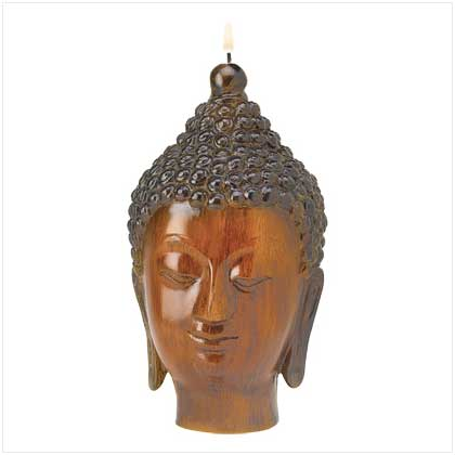 Serene Buddha Candle - Click Image to Close