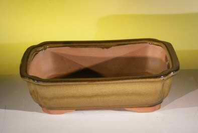 "Ceramic Bonsai Pot - Rectangle - 10"" x 8.0"" x 3.0"""
