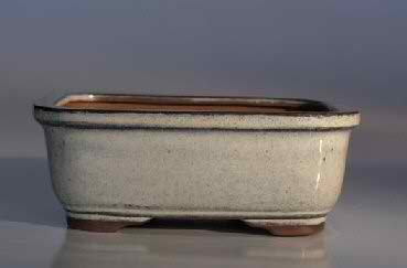 "Ceramic Bonsai Pot - Rectangle - 6.5"" x 5.25"" x 2.0"""