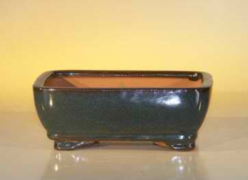 "Ceramic Bonsai Pot - Rectangle - 6.125"" x 5.0"" x 2.125"""