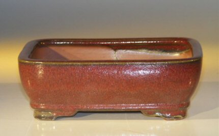 "Ceramic Bonsai Pot - Rectangle - 7.0"" x 5.5"" x 2.375"""