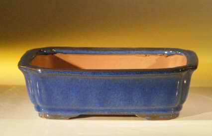 "Ceramic Bonsai Pot - Rectangle - 8.0"" x 6.25"" x 2.5"""
