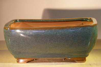 Bonsai Pot - Professional Series Rectangle - Blue/Green Color - Click Image to Close