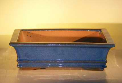 Bonsai Pot - Professional Series Rectangle - Blue/Green Color