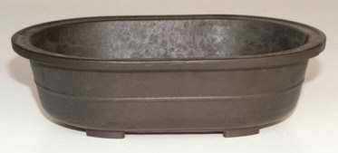 "Mica Oval Bonsai Pot - 11 1/4"" x 8"" x 3"""