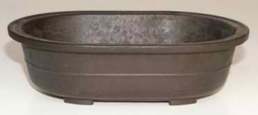 "Mica Oval Bonsai Pot - 14"" x 9 3/4"" x 4"""