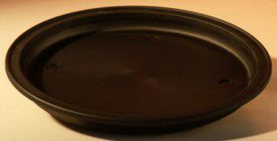 "12"" Round - Heavy Duty Plastic Round Drip Tray 12""x1.0"" - Click Image to Close"