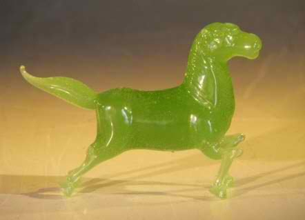 Miniature Glass Horse Figurine