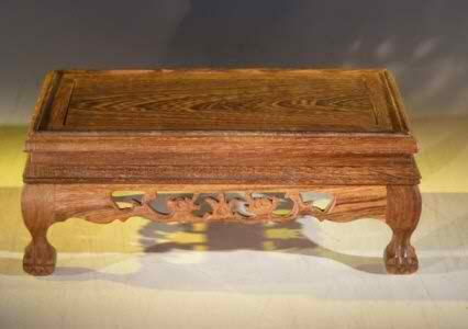 "Wooden Display Table - 8"" x 5"" x 4"" tall - Click Image to Close"