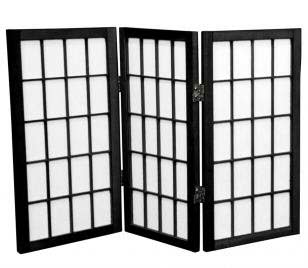 "Desktop Window Pane Shoji Screen 3 Panel, 24"" Tall"