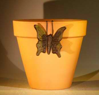 Cast Iron Hanging Garden Pot Decoration - Butterfly