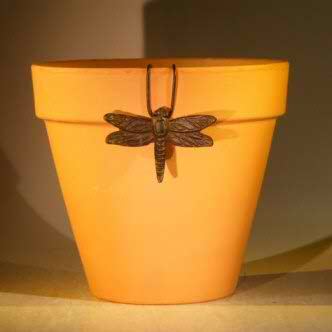 Cast Iron Hanging Garden Pot Decoration - Dragonfly
